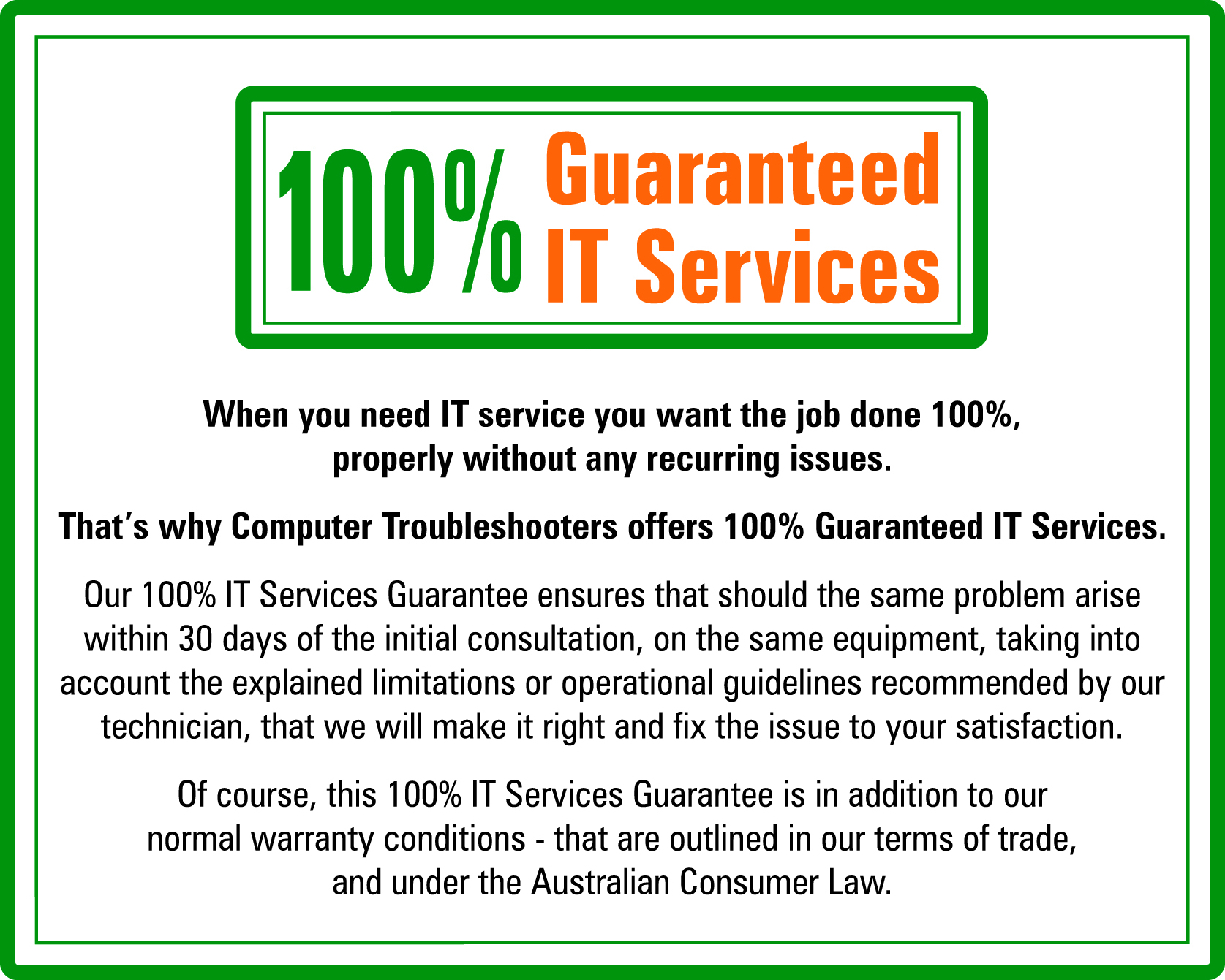 100% Guaranteed Services